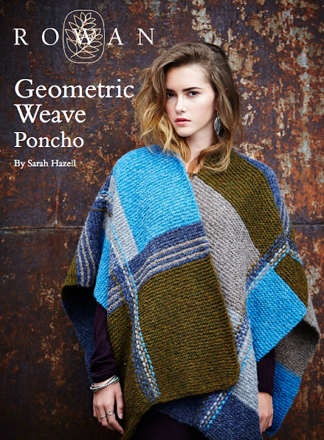 The Vintage Pattern Files Free 1970's Knitting Pattern - Geometric Weave Poncho