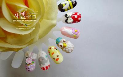 cute animal nail art