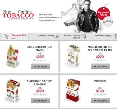 Buy tobacco from UK