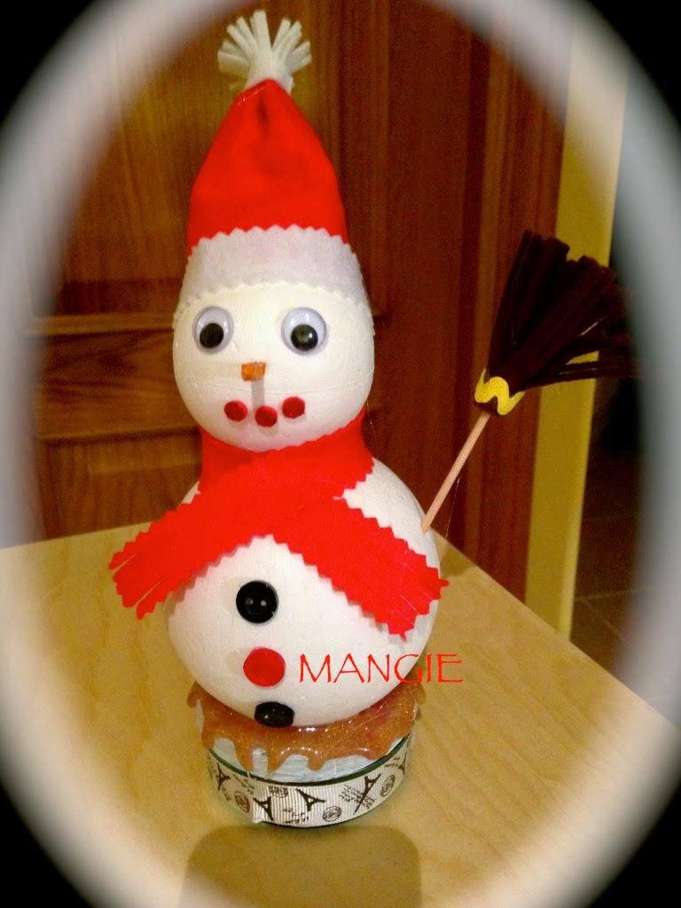 Muñeco nieve porexpan