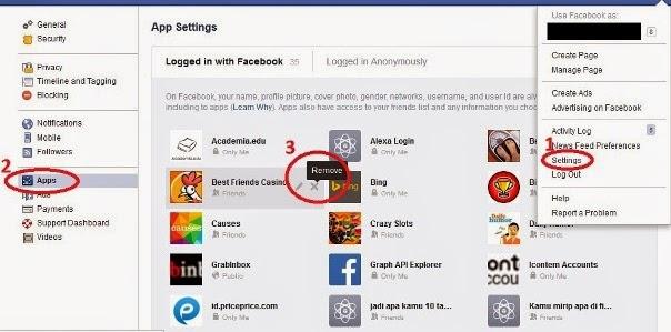 cara menghapus aplikasi facebook