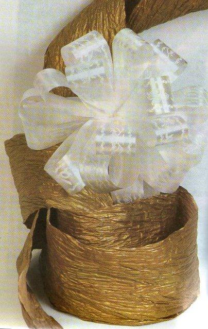 cinta de agua blanca ancha estampada para boda tijera