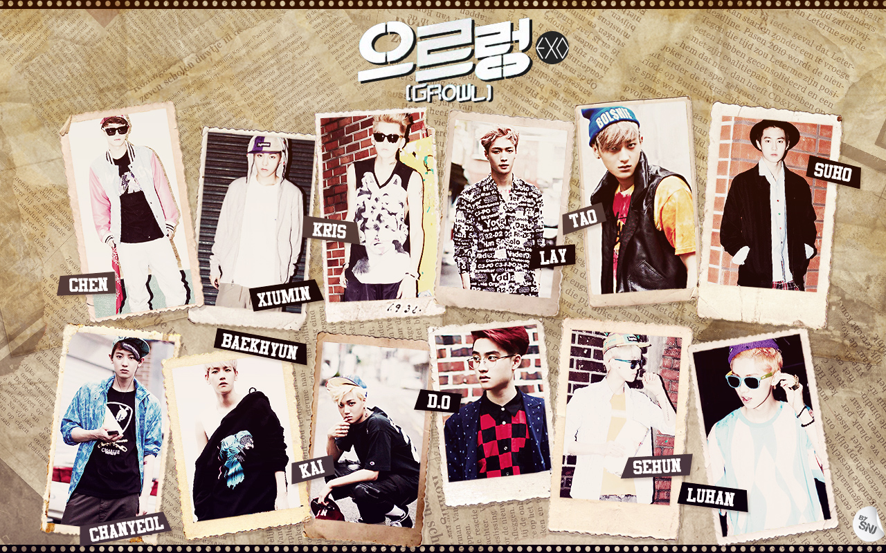 Monchan Worlds ♪♪ Lirik Growl 咆哮 으르렁 By Exo