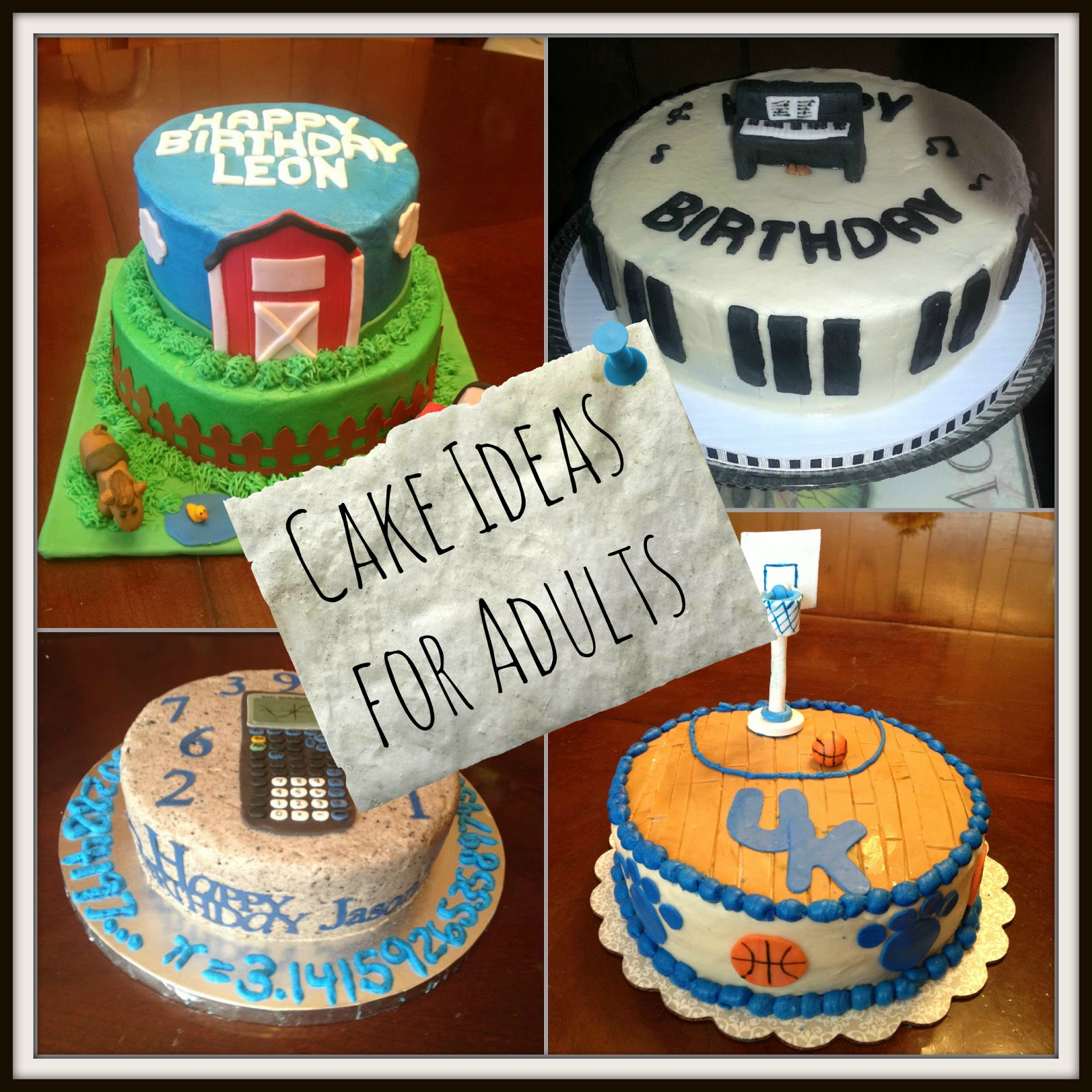 Cake Design Ideas For Adults : Birthday Cake Ideas for Adults
