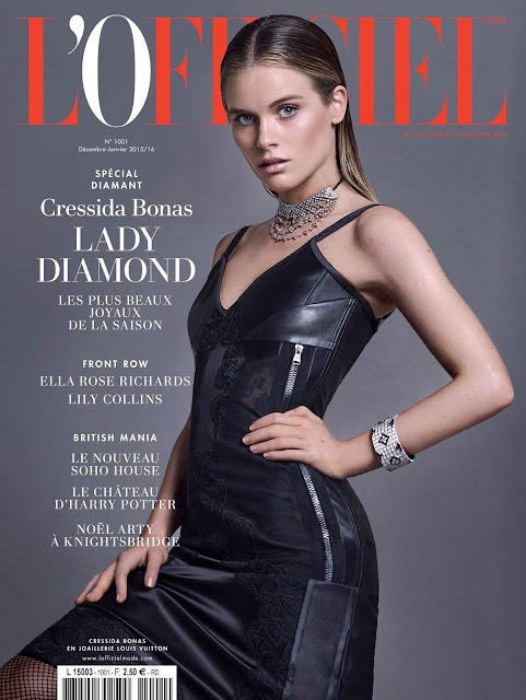 Actress, Model, @ Cressida Bonas for L'Officiel Paris December 2015/January 2016