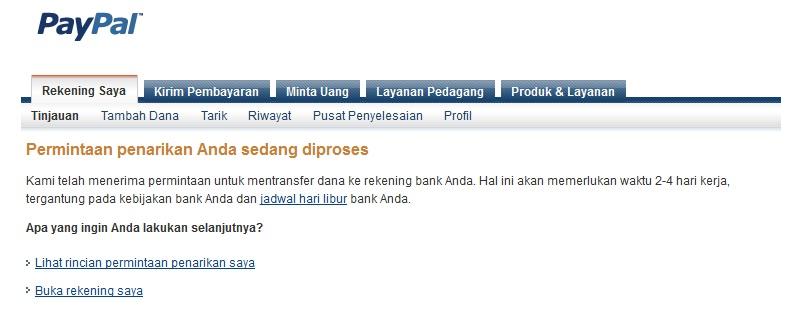 Cara withdraw ke bank lokal