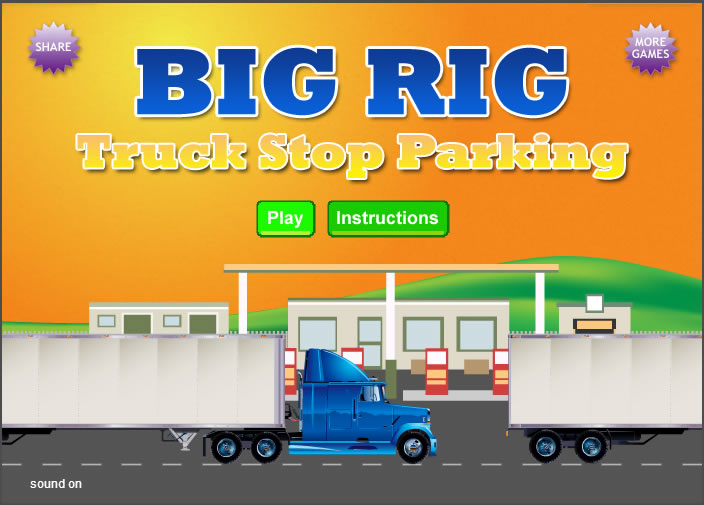 Truck Game : Big Rig Truck Stop Parking