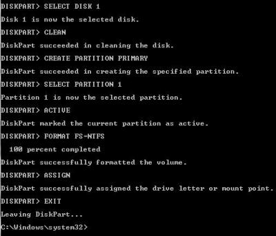 comandi DOS penna USB