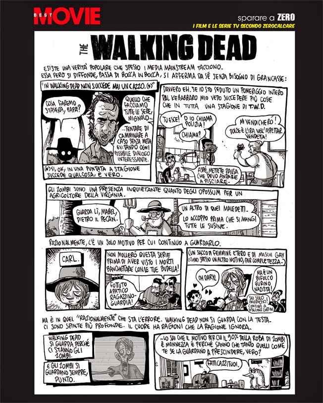 The Walking Dead, l'analisi di Zerocalcare