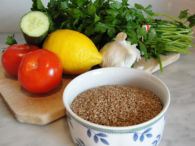 ingredients for tabouleh