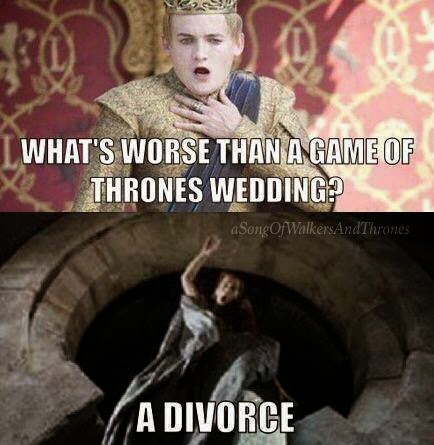 What Is Worse Than A #GameOfThrones Wedding? #Season4 meme