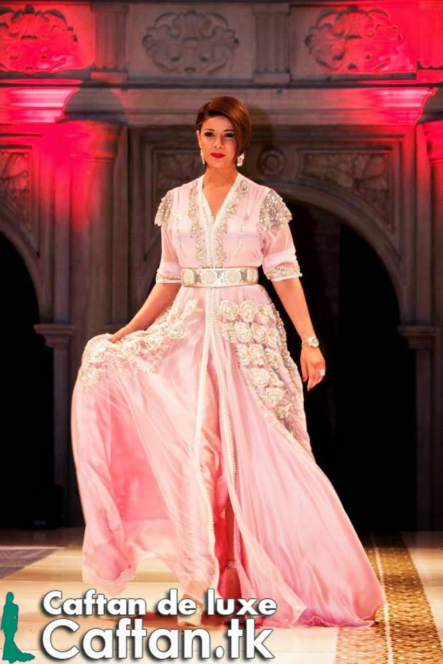 Caftan jasmin rose high fashion
