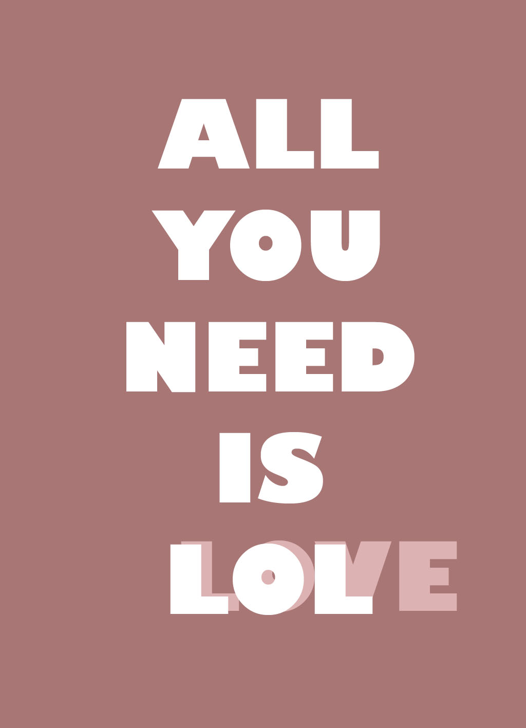 Quote of the Day :: All you need is lol Love