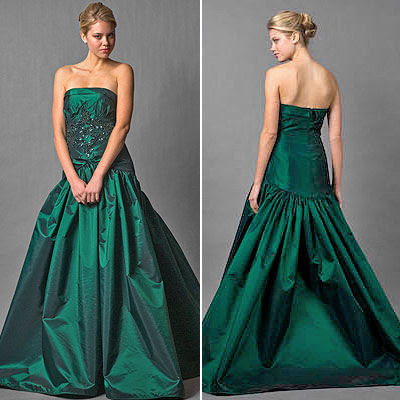 Green Dress on Green Wedding Dresses   Green Color Wedding Dress   Emerald Green
