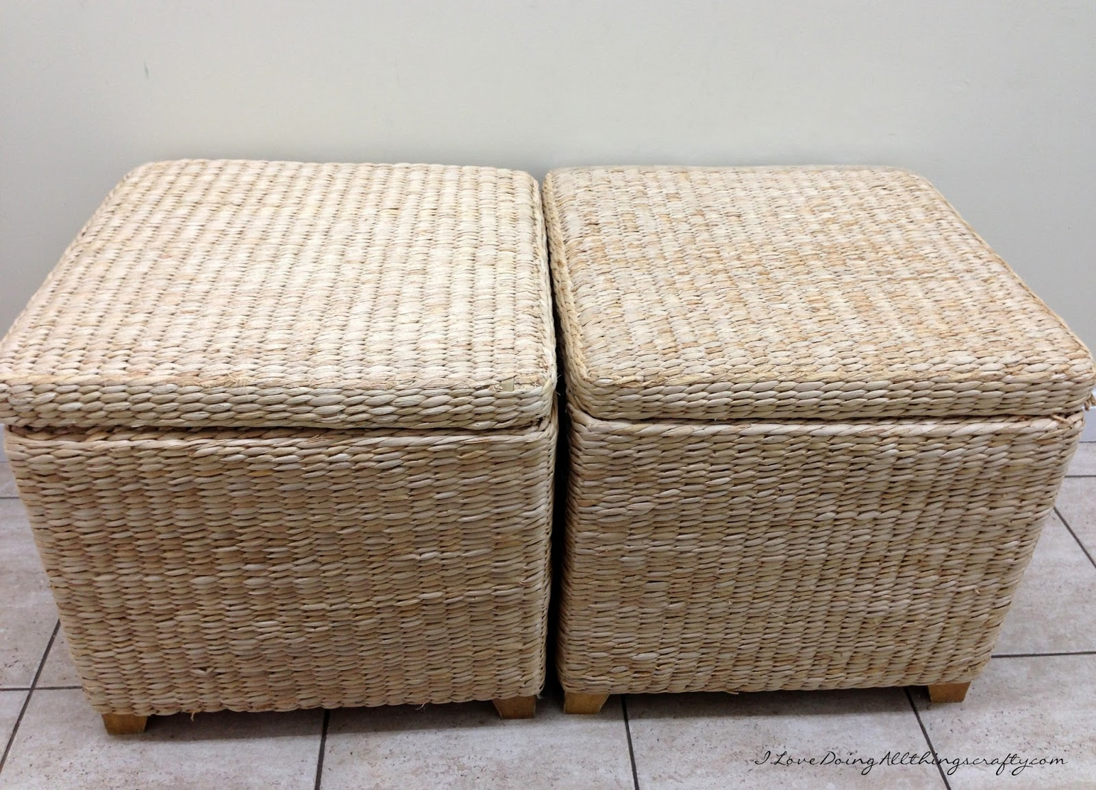 Storage Box Bench Seats Recovered + DIY Tutorial & I Love Doing All Things Crafty: Storage Box Bench Seats Recovered + ...