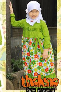 dress muslim untuk anak perempuan semua umur