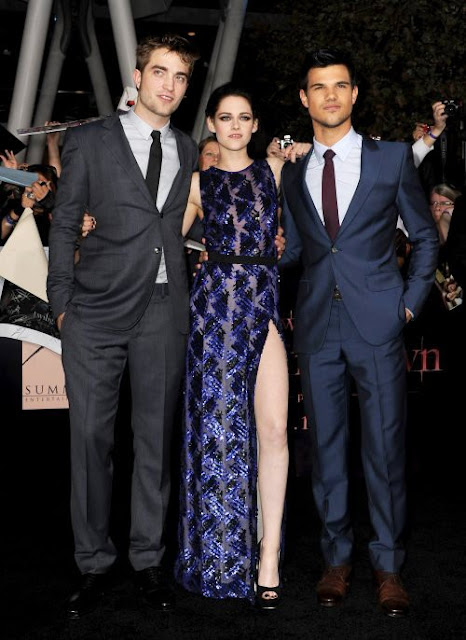 Kristen+Stewart+Taylor+Lautner+and+Rob+at+Breaking+dawn+premeire