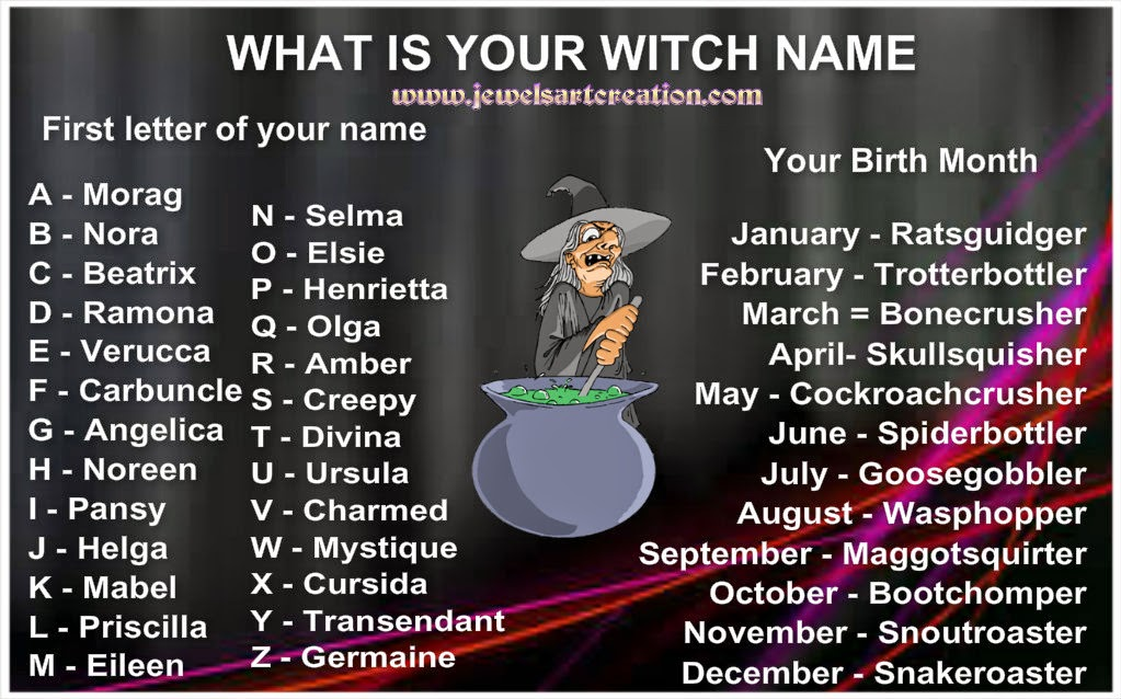 You Girl witch names