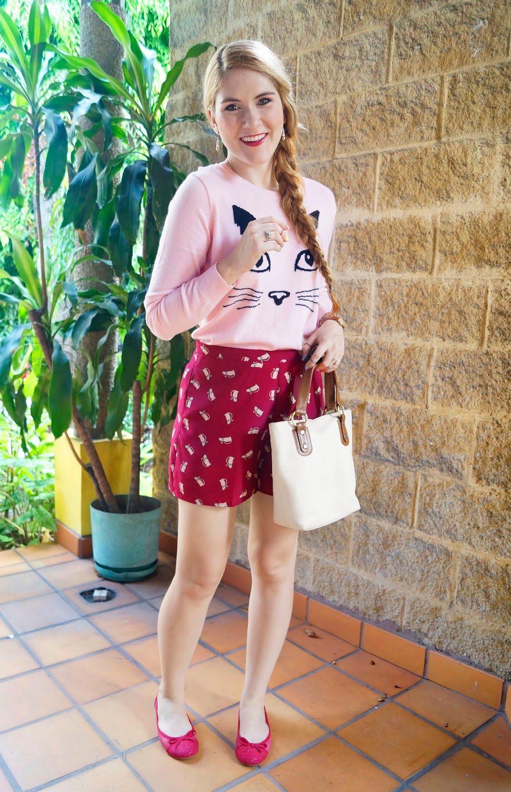 Fashion Blog, Forever 21 shorts, Forever 21 Sweater, Weekend Outfit, Casual Outfit, Flats Outfit