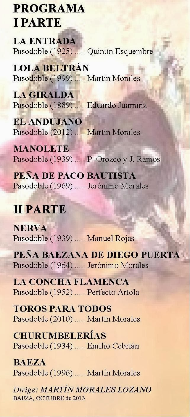 PASODOBLES TOREROS - CONCIERTO