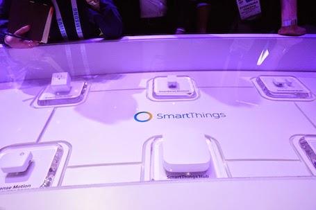 Samsung cũng trưng bày các thiết bị trong ngôi nhà thông minh.
