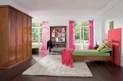 dormitorio color rosa niña