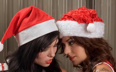 Merry Christmas Santa Girls Wallpapers beautiful girls