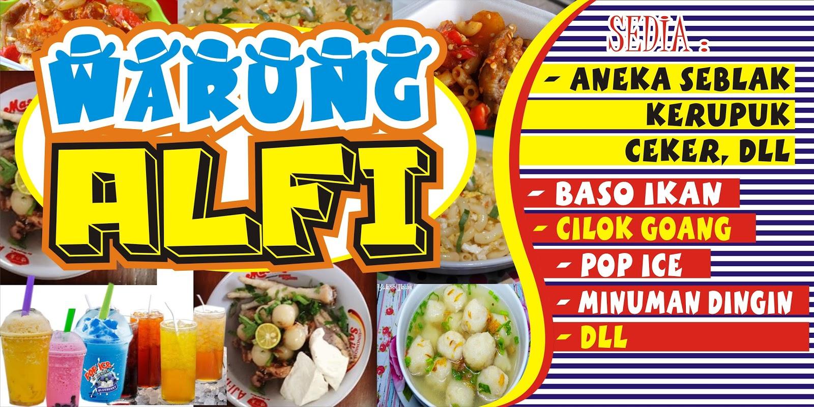 Download Contoh Spanduk Aneka Makanan Cdr Karyaku