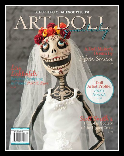 YAY!  My 2nd Article is now available in the August 2015 issue of Art Doll Quartely