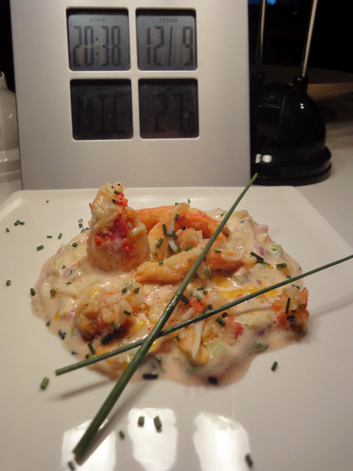 Clases de cocina zaragoza ensalada de patas de cangrejo real - Cursos de cocina zaragoza ...