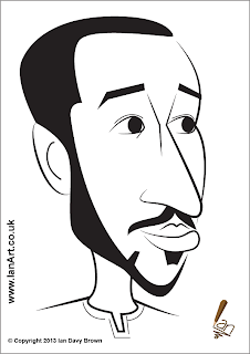 Andros Townsend Caricature
