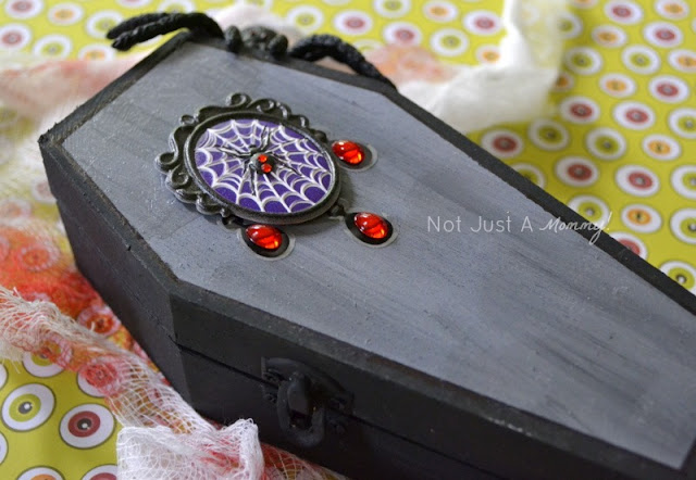 Wooden coffin treat boxes