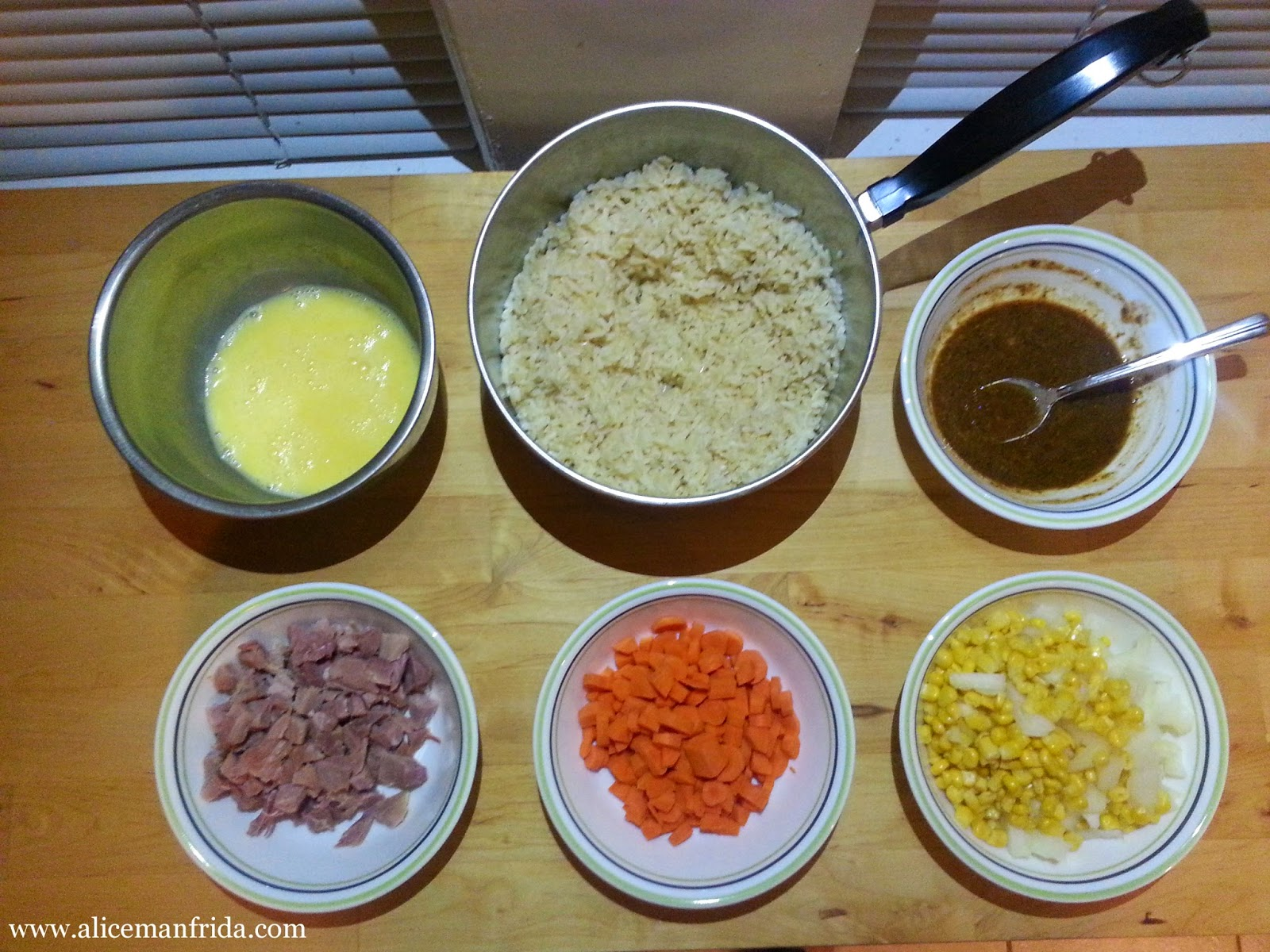 Ham Fried Rice, Healthy, Leftovers, Weeknight, Supper, Dinner, Alice Cooks, Alice Manfrida