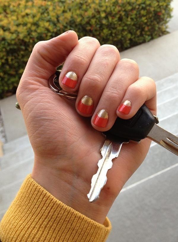 Diy half moon nail art : Andrea everyday a fashion and lifestyle diy half