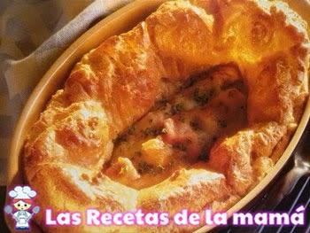 Receta de Gougère con jamón y queso