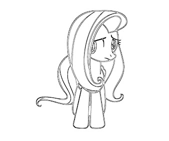 #18 Fluttershy Coloring Page