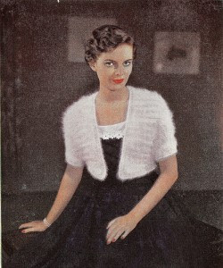 1950's Knitting pattern women's Angora Bolero