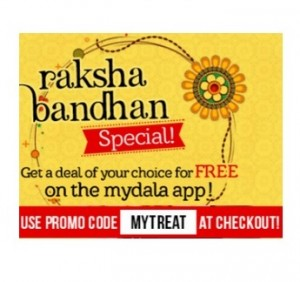 Any Deal of your choice for Free from Mydala App