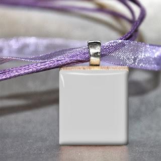 Scrabble tile pendant with ribbon Digital Photo Template