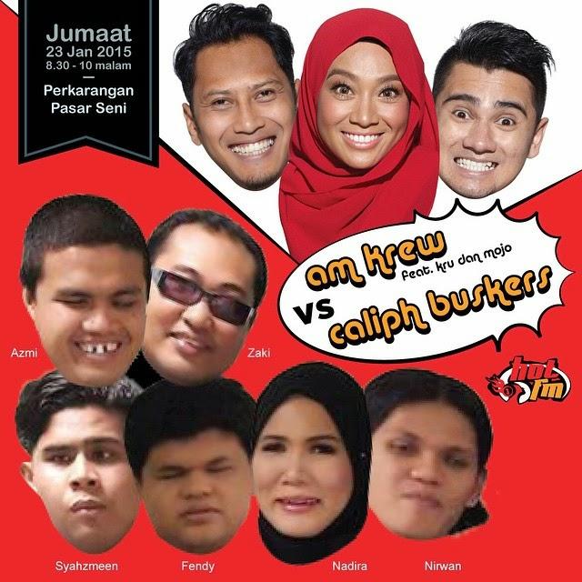 Persembahan Live Caliph Buskers Hot FM Mojo KRU Pasar Seni Central Market 23 Januari 2015