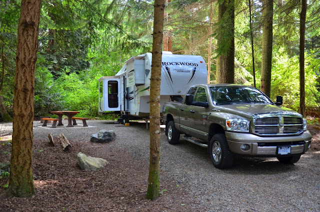 Camping in Rathtrevor Provincial Park, BC. Canada