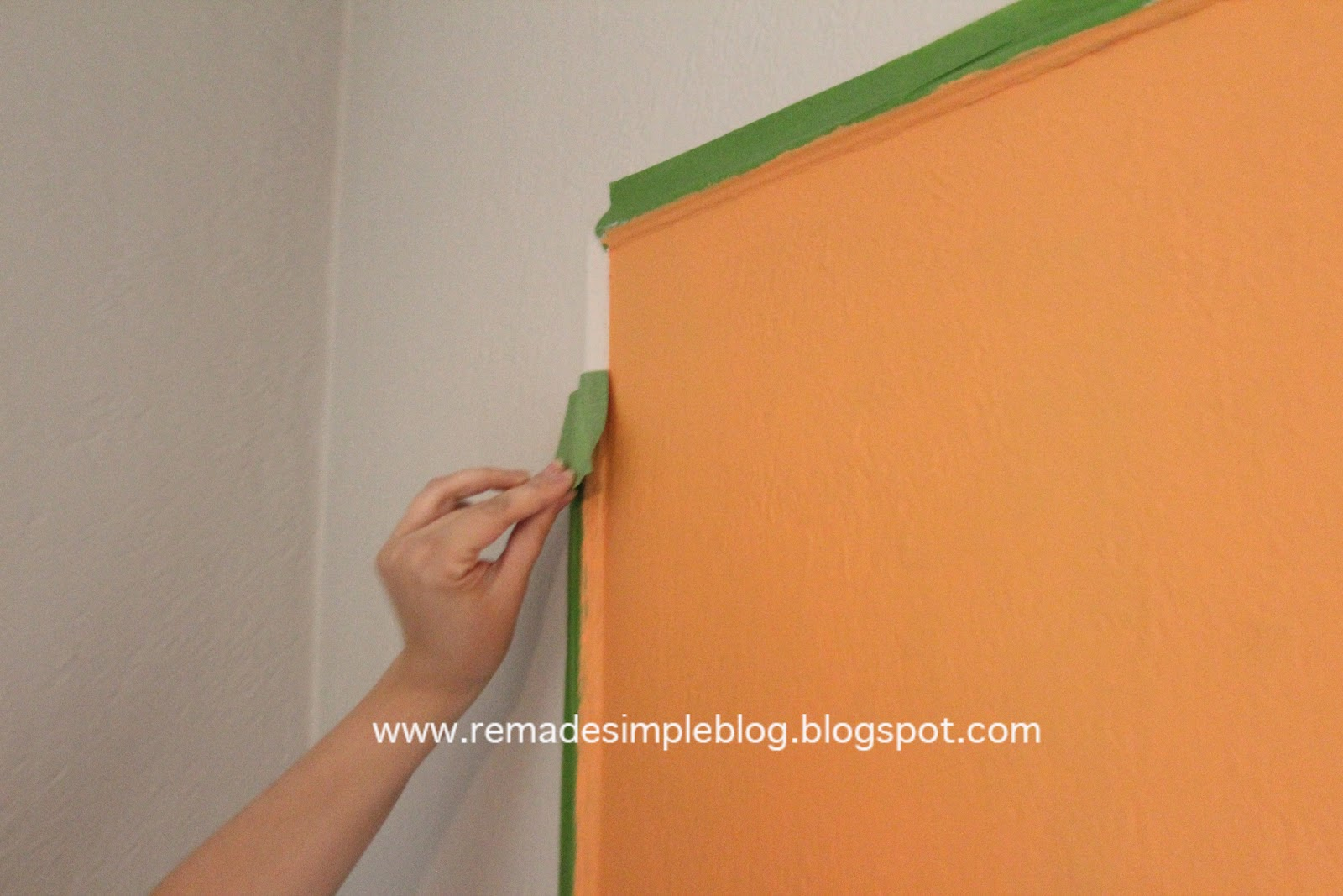 Remadesimple how to paint a straight line on a textured wall for Painting lines on walls