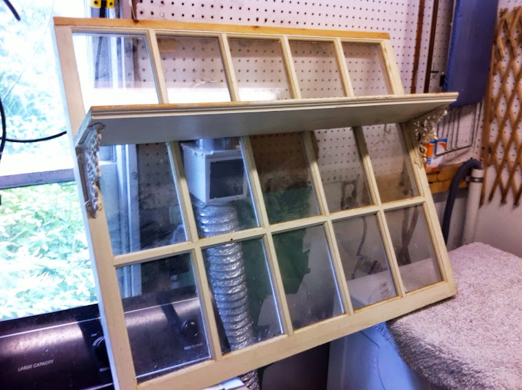 Large window with shelf