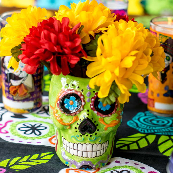 Day of the dead party ideas : Crafts decor and recipes