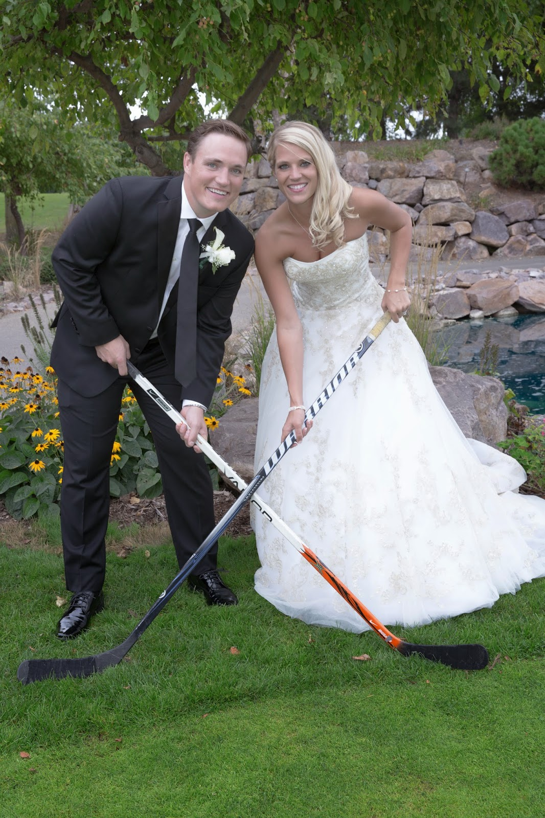 hockey themed wedding