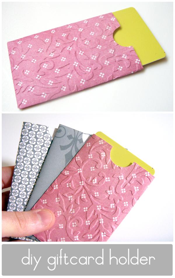 Lemon Jitters: DIY: Gift Card Holder