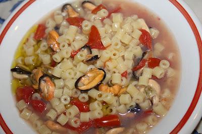 minestra cozze pomodori ricetta