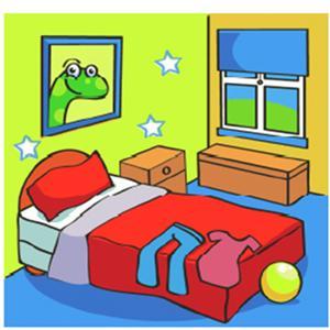 Algopekes partes de la casa for Dormitorio animado