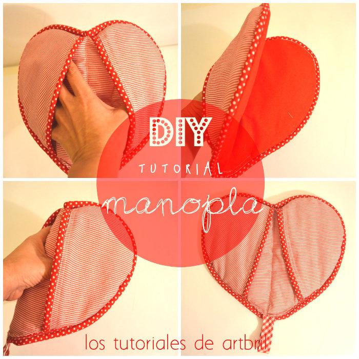 como hacer una manopla con forma de corazon
