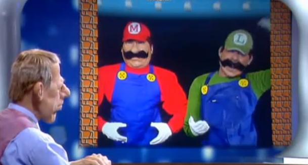 Mario et Luigi aux Guignols